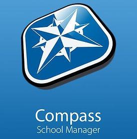 Compass logo, links to Compass application