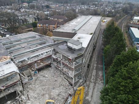 Demolition begins in Keighley