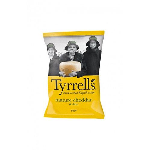 Tyrrell's chips - Cheddar affiné et ciboulette 40gr