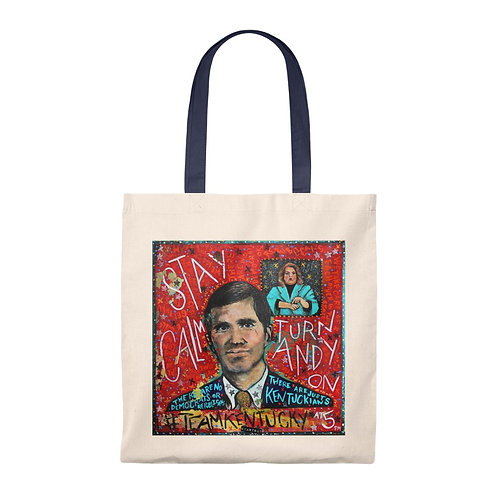 Stay Calm Turn Andy On - Shoulder Tote Bag (PRE-ORDER)