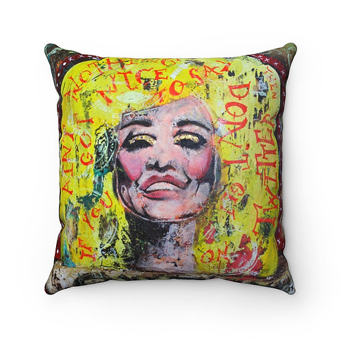 QUEEN - Faux Suede Pillow Cover  (PRE-ORDER)