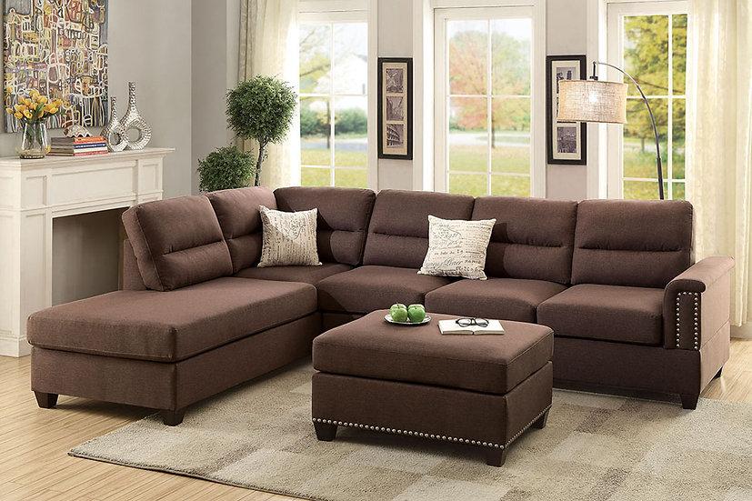 3-Pcs Sectional Sofa | F7609
