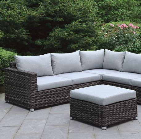 LAVANA PATIO SECTIONAL W/ OTTOMAN | CM-OS2118