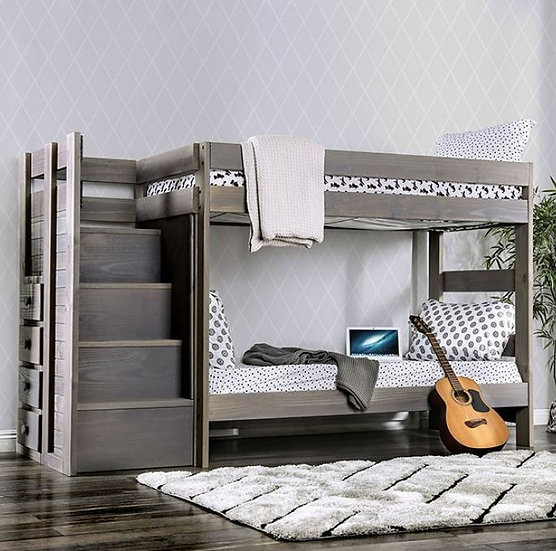 AMPELIOS TWIN/TWIN BUNK BED | AM-BK102