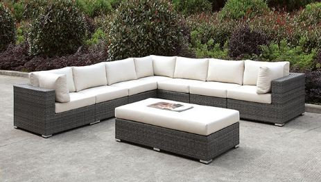 SOMANI LARGE L-SECTIONAL + BENCH | CM-OS2128-SET11