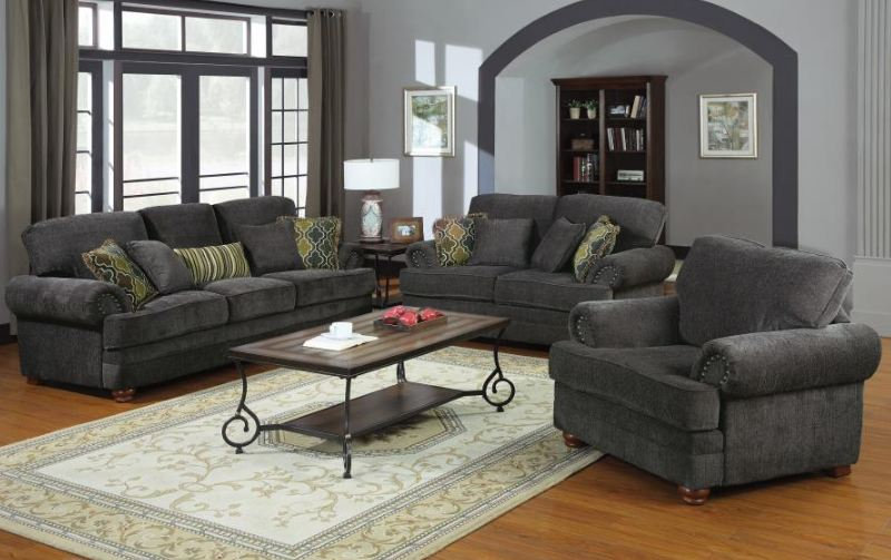 living room set 2 pieces ( 504401-S2 )