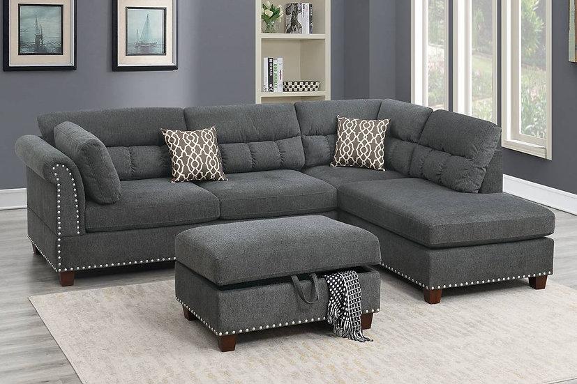 3-Pcs Sectional Sofa | F6417