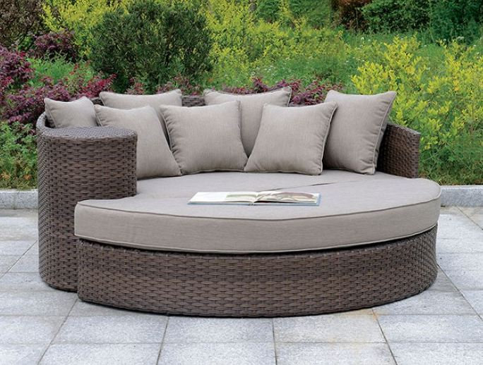 CALIO ROUND PATIO SOFA & OTTOMAN | CM-OS1844