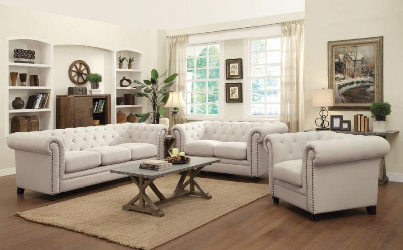 living room set 3 pieces ( 504554-S3 )