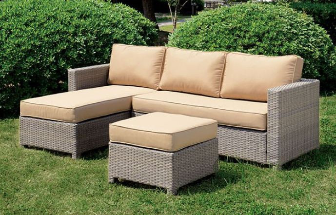 SABINA PATIO SECTIONAL W/ OTTOMAN | CM-OS1830