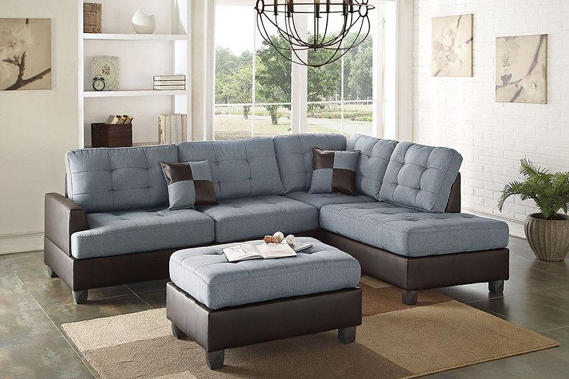 3-Pcs Sectional Sofa - F6855