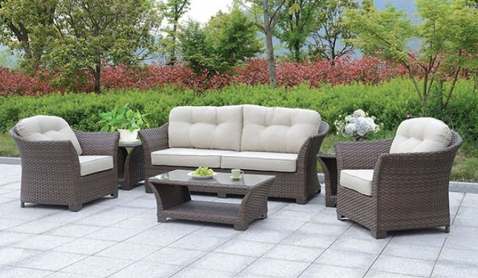 BOWBELLS 6 PC. PATIO SET W/ COFFEE TABLE & 2 END TABLES | CM-OS1829