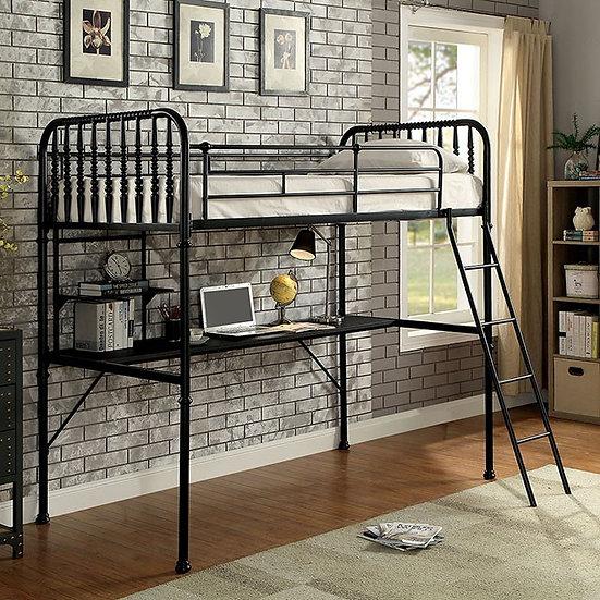 EBONY WORKSTATION BUNK BED | CM-BK915BK