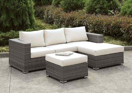 SOMANI SMALL L-SECTIONAL W/ RIGHT CHAISE + OTTOMAN | CM-OS2128-SET15