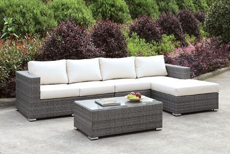 SOMANI L-SECTIONAL W/ RIGHT CHAISE + COFFEE TABLE | CM-OS2128-SET14
