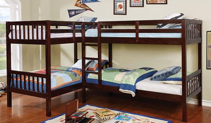 MARQUETTE L-SHAPED QUADRUPLE TWIN BUNK BED | CM-BK904