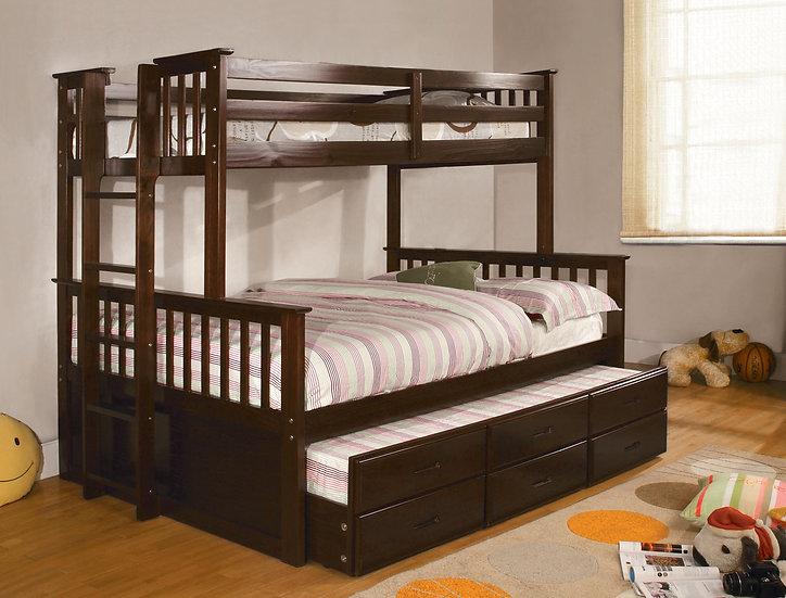 UNIVERSITY I TWIN/FULL BUNK BED | CM-BK458F