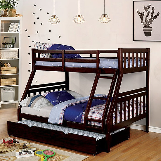 EMILIE TWIN/FULL BUNK BED  | CM-BK633EX-TF