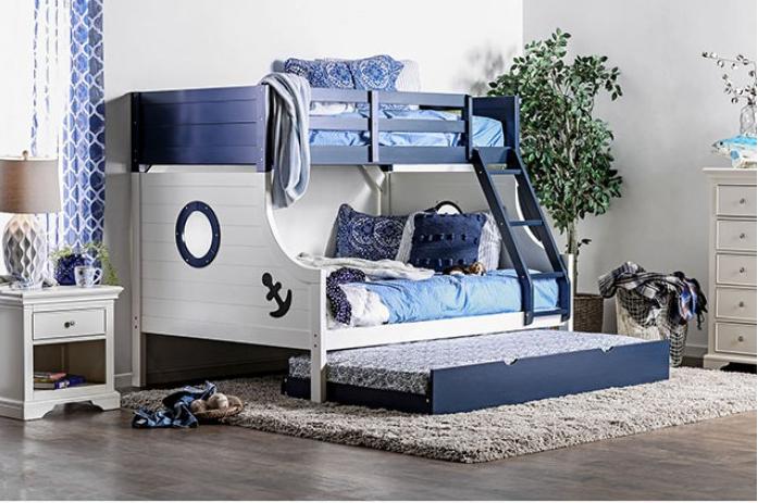 NAUTIA TWIN/FULL BUNK BED | CM-BK629