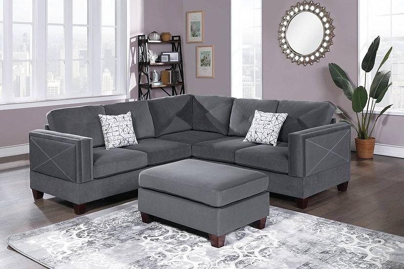3-Pcs Sectional Sofa - F8841