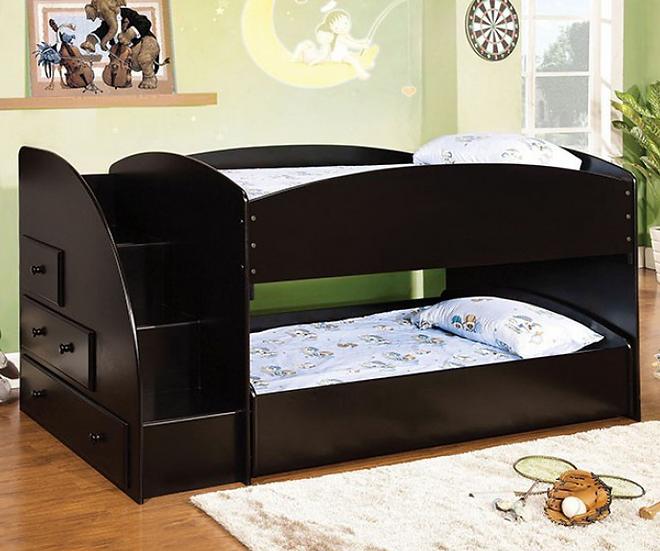 MERRITT TWIN/TWIN BUNK BED   CM-BK921BK