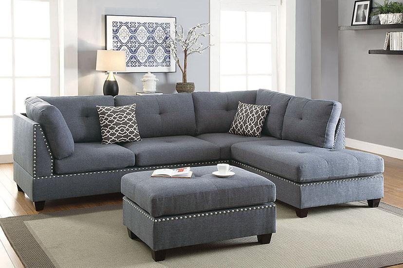 3-Pcs Sectional Sofa - F6973
