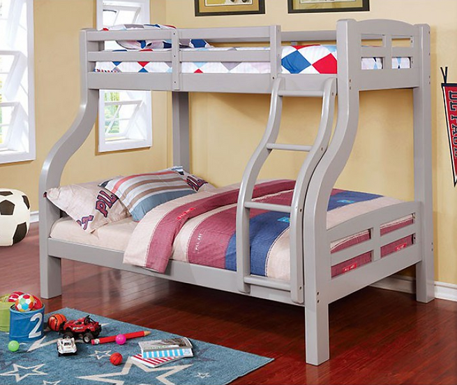 SOLPINE TWIN/FULL BUNK BED | CM-BK618