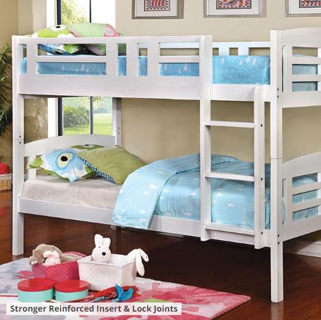 CASSIE TWIN/TWIN BUNK BED | CM-BK627