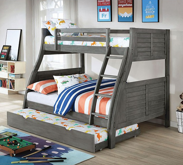 HOOPLE TWIN/FULL BUNK BED | CM-BK963GY