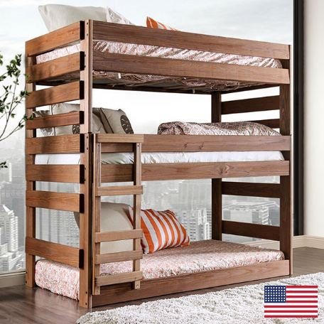 POLLYANNA TWIN TRIPLE DECKER BED  |  AM-BK500
