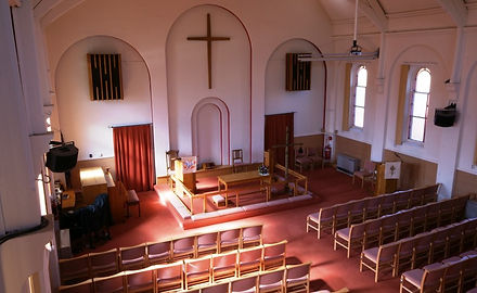 View of the HWMC sanctuary, where the Monday Fellowship meet