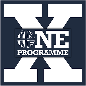 Logo of the York Methodist Circuit's One X Youth Group, which teenagers at HWMC can join and be a part of.