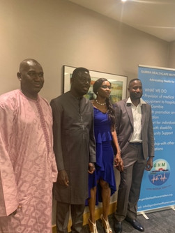 L-R, Gambian Embassy, Njie, Professor Sallah, Ms Gomez, Mr Krubally
