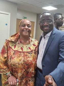 Poet Nyalissa and Mr Camara