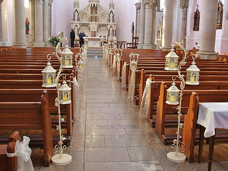 church weddings decorations lantern packages church candle lanterns for wedding hire 2949