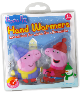Peppa Pig hand warmer, kids hand warmers, re-useablehand warmers