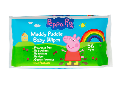 Peppa Pig Muddle Puddle Baby Wipes x56 -