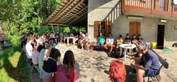 Camp Group Worship Pano