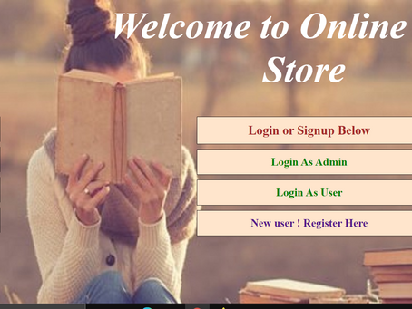 Online Book Store - Java Project
