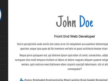 Sample 6 || Free portfolio website
