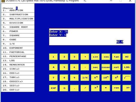 Scientific Calculator in C - Project