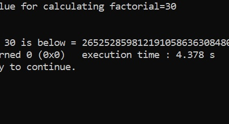 Extra Long Factorials in C || C Programs