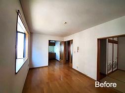 所沢市H様邸のリノベーション前の写真です。壁が多く、閉鎖的で狭く見えてしまう空間でした。