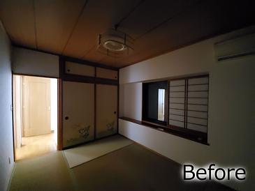 リノベーション前の2階和室の写真です。今回は洋室化していきます。