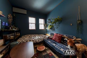 リノベーション後の2階洋室の写真です。クロス貼り替えのみでも雰囲気が大きく変わります。