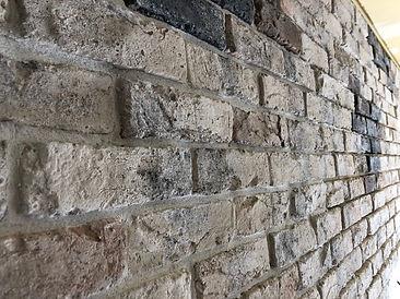 壁面ブリックタイル施工完了の写真です。