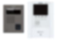 標準装備のTVモニタ付きインターホン