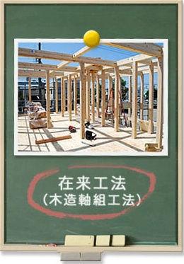 Mamanの家では日本古来から伝わる在来工法(木造軸組工法)が基本仕様です。