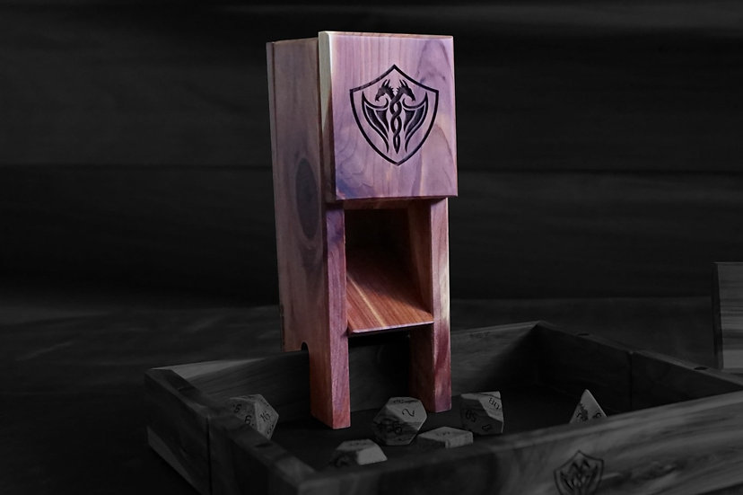 Cedar Magnetic Dice Tower - Nomad's