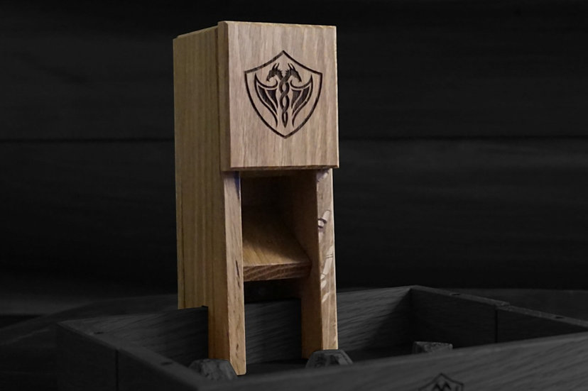 Red Oak Magnetic Dice Tower - Nomad's